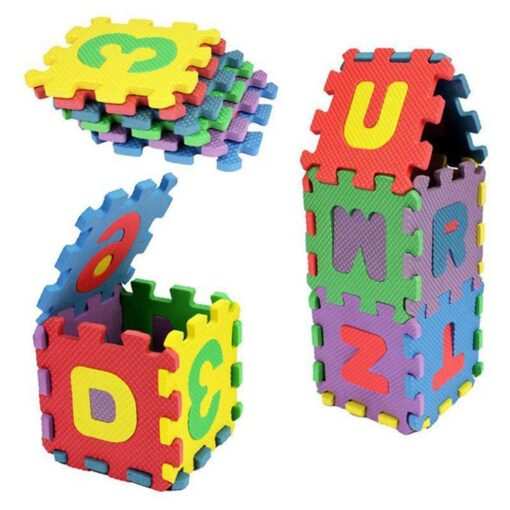 1pcs Children Alphabet Letters Numerals Puzzle Colourful Kids Rug Play Mat Soft Floor Crawling Puzzle Kids 2