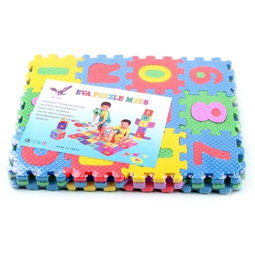 1pcs Children Alphabet Letters Numerals Puzzle Colourful Kids Rug Play Mat Soft Floor Crawling Puzzle Kids
