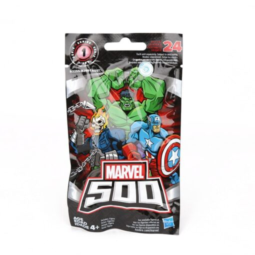 1piece 4 5cm Marvel Toys Blind Bags 500 Collectible Mini Figure Avengers Spiderman Thanos Ironman Hulk 5