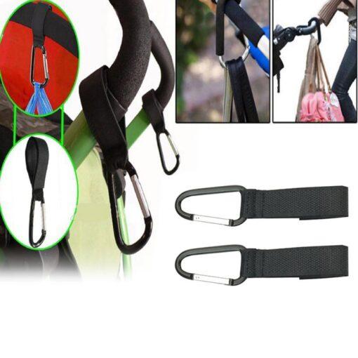 2 3pcs Stroller Hooks Wheelchair Stroller Pram Carriage Bag Hanger Hook Infant Strollers Shopping Bag Clip 1