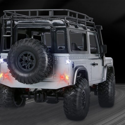 2 4G Four wheel Drive Climbing Vehicle 4WD Rechargeable Battery Crawler 1 12 LED Lights Vehicle 3
