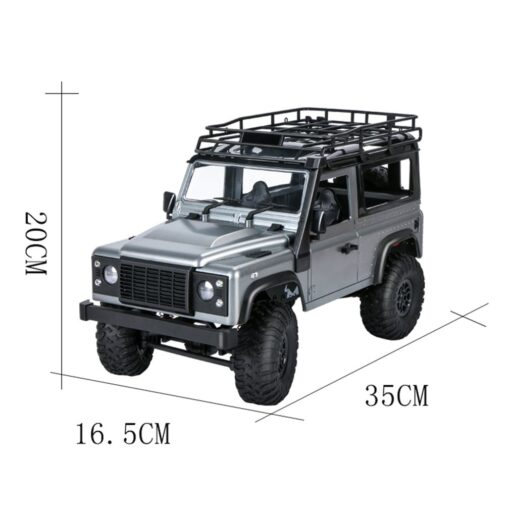 2 4G Four wheel Drive Climbing Vehicle 4WD Rechargeable Battery Crawler 1 12 LED Lights Vehicle 5