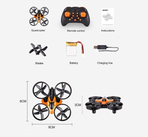 2 4G Mini Quadcopter Headless JJRC H36 H36F Mini Drone 2 4G 4CH 6 Axis Speed 5