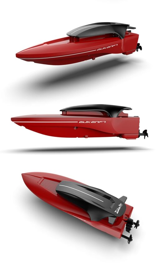 2 4G Mini Remote Control High speed Speedboat Remote Control Boat With Light Navigation Model Water 4