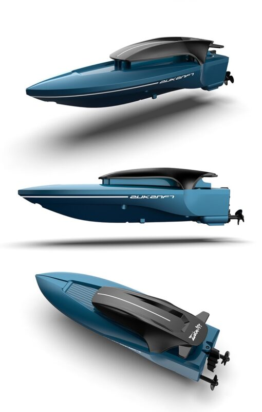 2 4G Mini Remote Control High speed Speedboat Remote Control Boat With Light Navigation Model Water 5