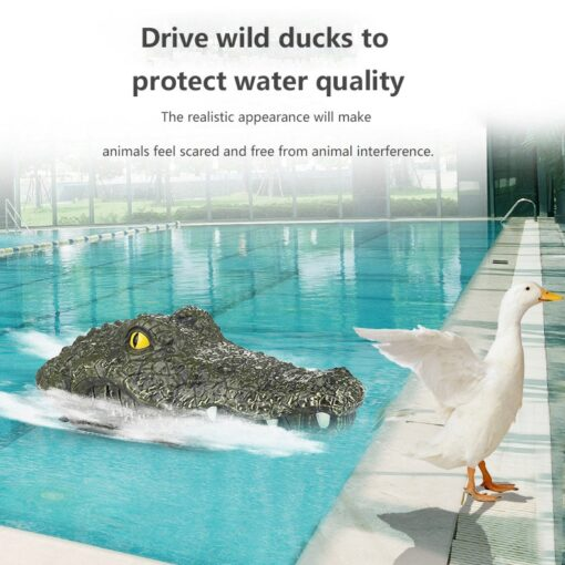 2 4G Remote Control Simulation Electronic Crocodile RC Boat Prank Toys Party Horror Speedboat Model Children 2