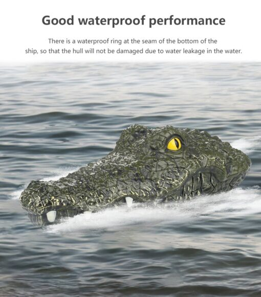 2 4G Remote Control Simulation Electronic Crocodile RC Boat Prank Toys Party Horror Speedboat Model Children 3