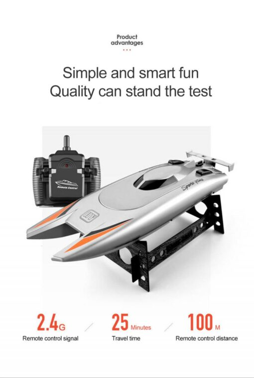 2 4GHz Remote Control Boat High Speed Yacht Children Game Boat Water Toy Pool Smart RC 2