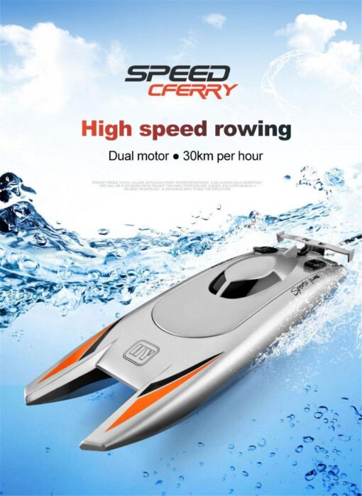 2 4GHz Remote Control Boat High Speed Yacht Children Game Boat Water Toy Pool Smart RC