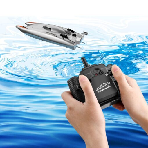 2 4g High speed Remote Control Boat Upgraded Version Cooling Capsize Reset Speed Boat Water Game 2