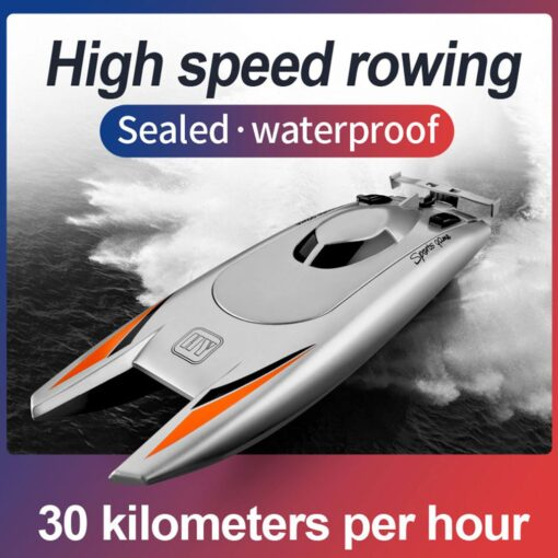 2 4g High speed Remote Control Boat Upgraded Version Cooling Capsize Reset Speed Boat Water Game
