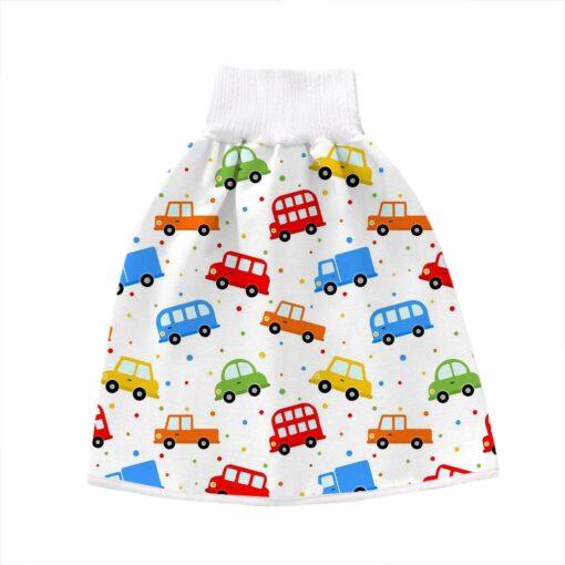 2 In 1 Comfy Children Adult Diaper Skirt Summer Baby Pants Absorbent Shorts Prevent Skirt Moment 2
