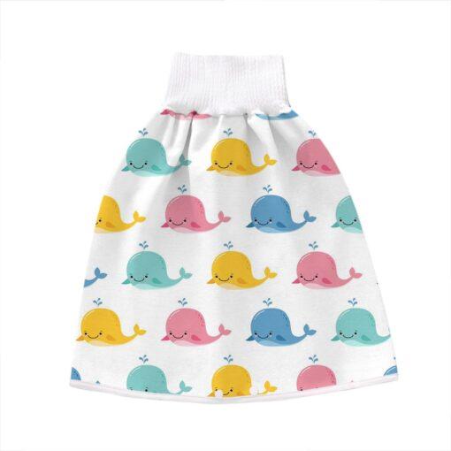 2 In 1 Comfy Children Adult Diaper Skirt Summer Baby Pants Absorbent Shorts Prevent Skirt Moment 3