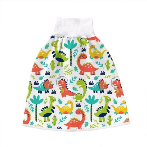 2 In 1 Comfy Children Adult Diaper Skirt Summer Baby Pants Absorbent Shorts Prevent Skirt Moment 4
