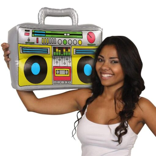 2 Pieces Inflatable Funny Radio Boom Box Inflatable Mobile Phone Props PVC Inflatable Toys For Party 1