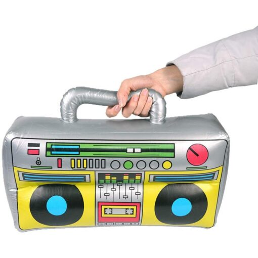 2 Pieces Inflatable Funny Radio Boom Box Inflatable Mobile Phone Props PVC Inflatable Toys For Party 3