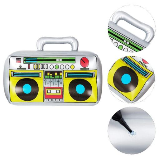2 Pieces Inflatable Funny Radio Boom Box Inflatable Mobile Phone Props PVC Inflatable Toys For Party 4