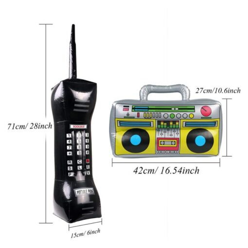 2 Pieces Inflatable Funny Radio Boom Box Inflatable Mobile Phone Props PVC Inflatable Toys For Party 5