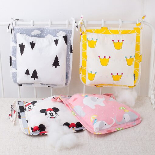 2 Styles Fashion Cartoon Mummy Diaper Bag Stroller Baby Nappy Bag Baby Care Baby Bed Hanging 1