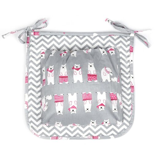 2 Styles Fashion Cartoon Mummy Diaper Bag Stroller Baby Nappy Bag Baby Care Baby Bed Hanging 3