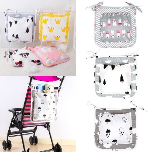 2 Styles Fashion Cartoon Mummy Diaper Bag Stroller Baby Nappy Bag Baby Care Baby Bed Hanging
