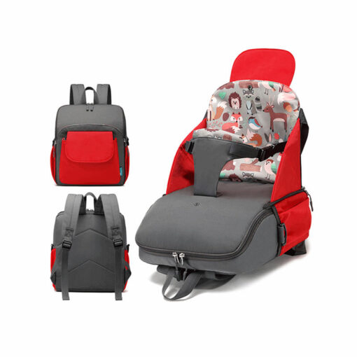 2 in 1 Portable Folding Baby Dining Chair Seat Bag and Mommy Bag Toddler Booster Seat
