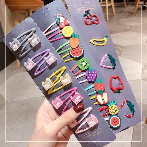 20 15pcs Baby Clip Hairpin Kids Headwear Children Cute Princess Fruit Hairpin Barrette Accessories Hair Clip 1