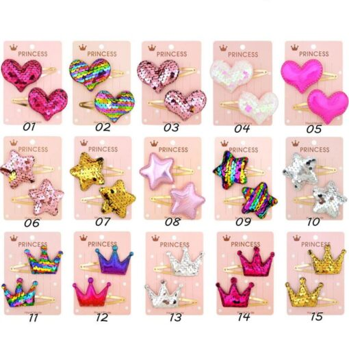 20 15pcs Baby Clip Hairpin Kids Headwear Children Cute Princess Fruit Hairpin Barrette Accessories Hair Clip 5
