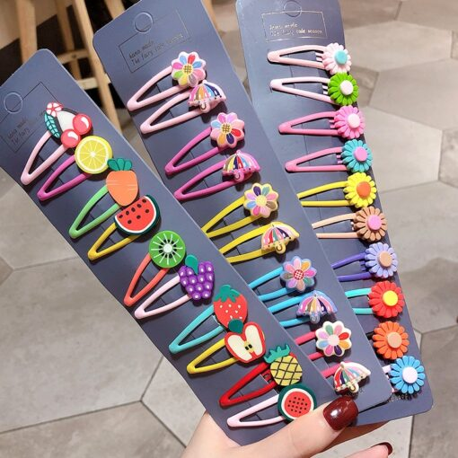 20 15pcs Baby Clip Hairpin Kids Headwear Children Cute Princess Fruit Hairpin Barrette Accessories Hair Clip