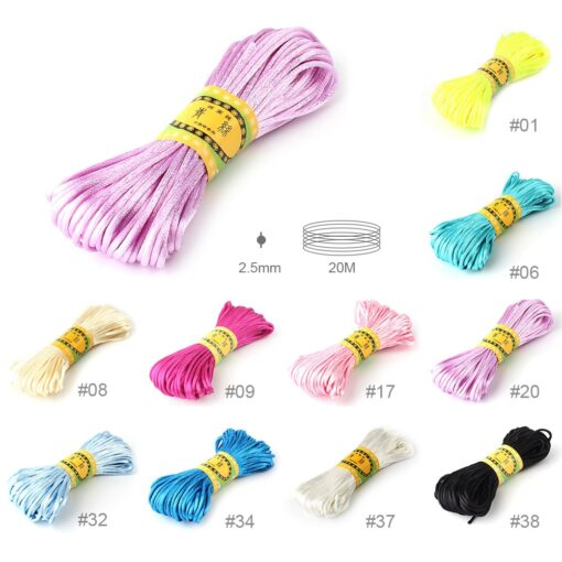 20 meters 2 5mm size Cord DIY String Cord Nylon Rope Accessary Findings For Baby Silicone 1