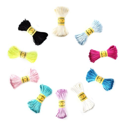 20 meters 2 5mm size Cord DIY String Cord Nylon Rope Accessary Findings For Baby Silicone