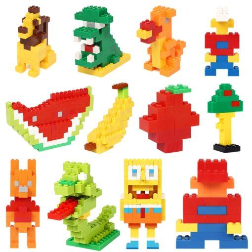 200 1000 Pcs Building Blocks DIY Creative Bricks Model Constructor Educational Kids Toys 3