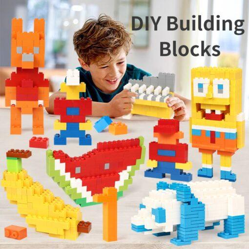200 1000 Pcs Building Blocks DIY Creative Bricks Model Constructor Educational Kids Toys 4