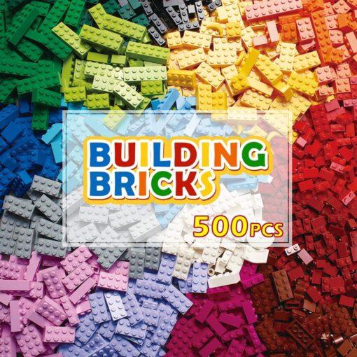 200 1000 Pcs Building Blocks DIY Creative Bricks Model Constructor Educational Kids Toys 5