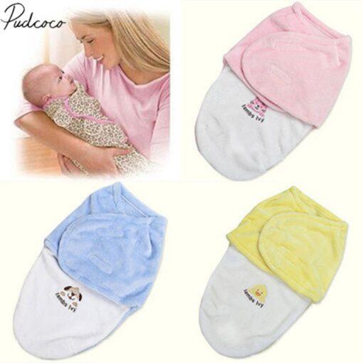 2018 Brand New Newborn Kids Baby Warm Cotton Swaddling Blanket Sleeping Bags Swaddles Warp Cotton Warm