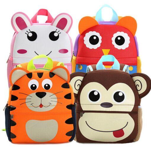 2018 New Cute Kid Mommy Diaper Bags Toddler Kids Backpack Kindergarten bag 3D Cartoon Animal Bag 4