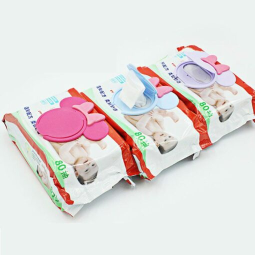 2018 Portable Baby Wipes Lid Baby Wet Wipes Cover Child Wet Tissues Lid Cartoon Mobile Wipes 1