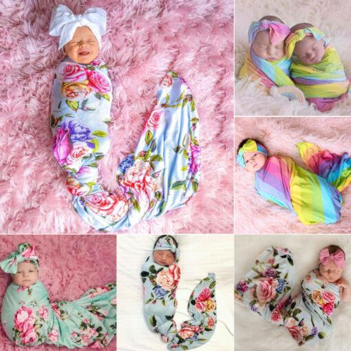 2019 Baby Bedding Clothing Newborn Baby Boy Girl Cotton Swaddle Wrap Blanket Sleeping Bag Colorful Swaddling 1