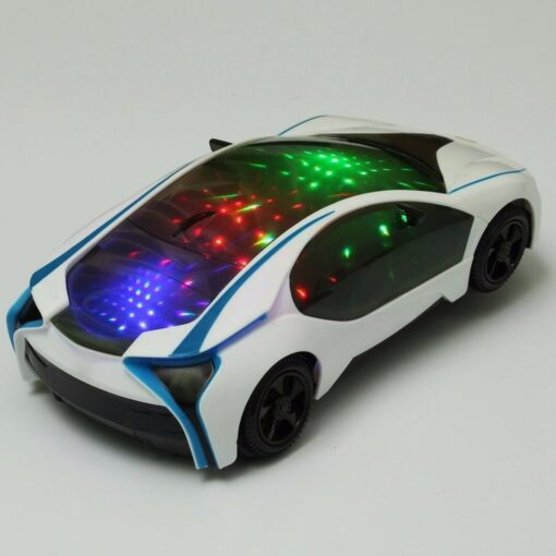 2019 Cool Universal LED Light Music Electric Flashing Cars Toys For Children Early Educational Sound Car 1