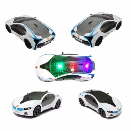 2019 Cool Universal LED Light Music Electric Flashing Cars Toys For Children Early Educational Sound Car 4
