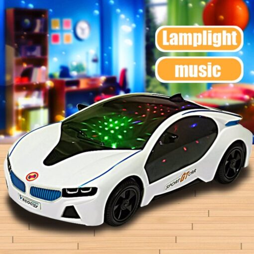 2019 Cool Universal LED Light Music Electric Flashing Cars Toys For Children Early Educational Sound Car