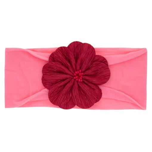 2019 Hot Kid Baby Girl Floral Elastic Hairband Girls Baby Headband Toddler Bow Flower Hair Band 5