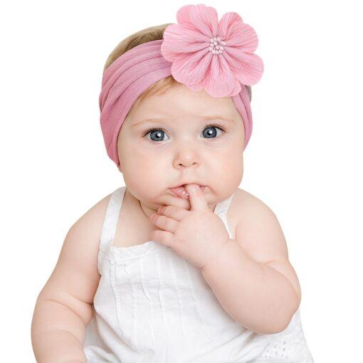 2019 Hot Kid Baby Girl Floral Elastic Hairband Girls Baby Headband Toddler Bow Flower Hair Band