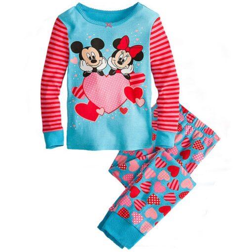 2019 Kids boy girls clothing pajamas set 100 Cotton Children Sleepwear 2 Pieces Cartoon Tops Pants 1