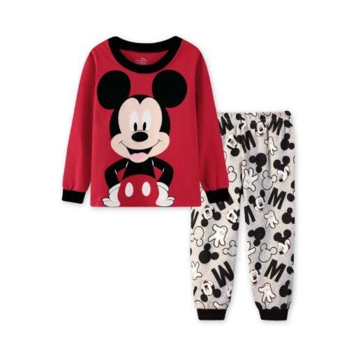 2019 Kids boy girls clothing pajamas set 100 Cotton Children Sleepwear 2 Pieces Cartoon Tops Pants 2