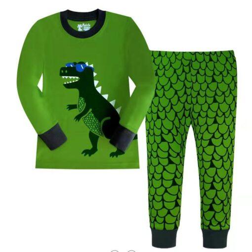 2019 Kids boy girls clothing pajamas set 100 Cotton Children Sleepwear 2 Pieces Cartoon Tops Pants 4