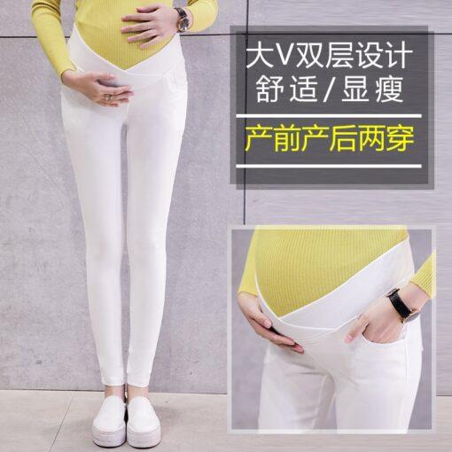 2019 Low Waist Elastic Maternity Pencil Pants Cotton Skinny Leg Pregnancy Pants Maternity Clothes Leggings for 4