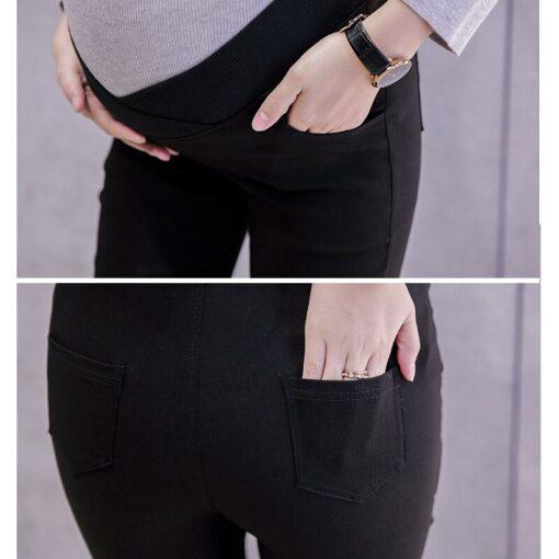 2019 Low Waist Elastic Maternity Pencil Pants Cotton Skinny Leg Pregnancy Pants Maternity Clothes Leggings for 5