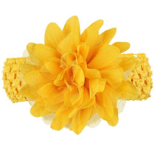 2019 New Baby Girls Flower Headband Lace Bow Hairband Flower Headbands Warmer Baby Headband Accessories 10 9
