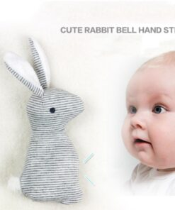 2019 New Baby Rattle Toys Animal Cute Rabbit Hand Bells Plush Baby Toy With BB Sound 1